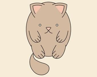 Fat Brown Cat