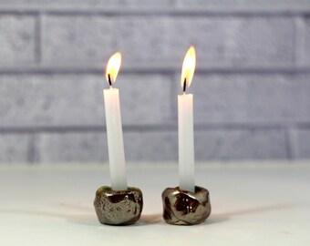 Shabbat candlestick Ceramic Candle holders Holiday decor