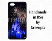 Disney iPhone case, iPhone 6, fireworks over Cinderella Castle, 4, 4s, 5, 5s, 5c, Galaxy S5 cover, princess, Disneyworld, Magic Kingdom