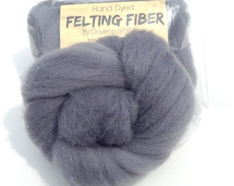 Needle Felting Wool, Needle Felting Roving, Light Grey Wet Felting Merino Wool