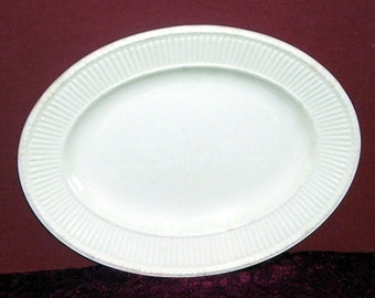 Made in England Wedgwood White Oval 11 1/2 inch Serving Platter, Wedgewood, Antique Wedgwood Platter, English Platter, Table Setting Platter