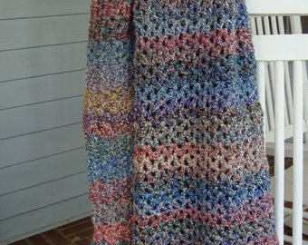 Wraps Shawls, Crochet Shawl, Crocheted Shawl, Meditation Shawl, Evening Shawl, Gift for Him, Gift for Her, Gift for Grandma, Painted Desert