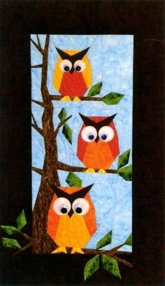 Hooters Owl Foundation Pieced Quilt Pattern Designers Workshop