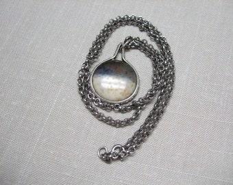 Vintage Stone Pendant Necklace