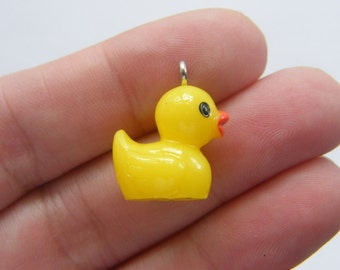 BULK 20 Rubber duck charms resin BS53