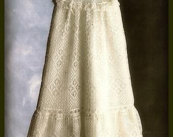 Crochet PATTERN - Lacy Vintage Christening Gown, Bonnet, Shawl, Bib, jacket and Booties - Edwardian Style Thread crochet