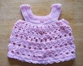 Pinafore 2303 - Newborn - 3 Months - Pink and White Twist