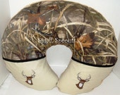 Custom Advantage Max 4 Camo Baby Boppy Cover with Whitetail Deer