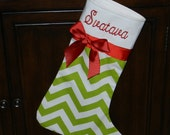 Christmas stocking//personalized Christmas stocking //monogrammed Christmas stocking