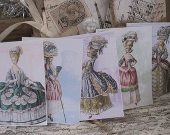 NEW french market assorted marie antoinette stickers peel and stick