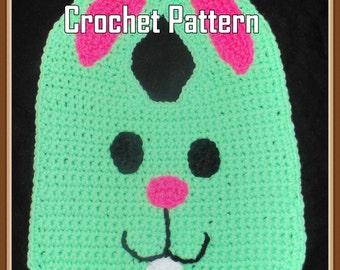 Easter Bunny Bib Crochet Pattern - INSTANT DOWNLOAD