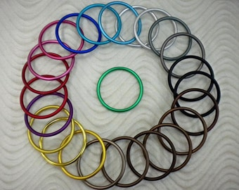 Aluminum Large Rings for Baby Slings Designed for Baby Carriers Make your own Ring Sling Solid Non Welded Light Weight Rings
