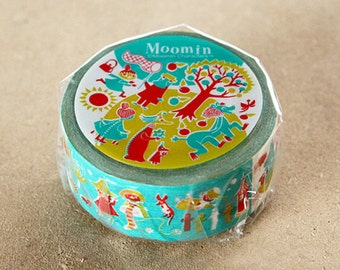 Moomin Vintage Series Japanese Washi Masking Tape / Forest 20mm wide 15m long for scrapbooking, packaging, party deco