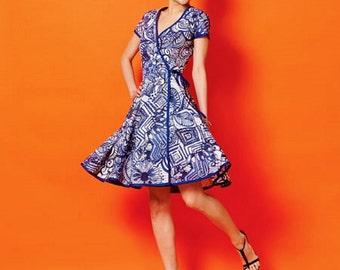 Wrap Dress Pattern, Straight Wrap Dress Pattern, Full Skirt Wrap Dress Pattern, McCall's Sewing Pattern 6959