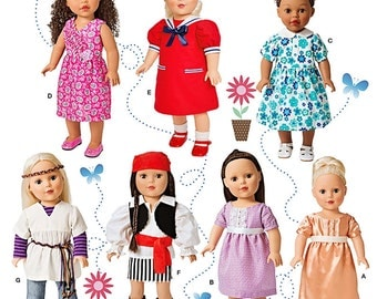 "18 inch Doll Clothes Pattern, 18"" Doll Clothes Pattern, 18 in Doll Clothes Pattern, Simplicity Sewing Pattern 1344"