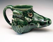 Dragon Face Mug  - Sculpted Fantasy Stein PRICE REDUCED