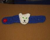 cat crocheted bracelet