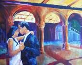 Custom Wedding Portrait Painting 24x36 Inches Acrylic on Canvas