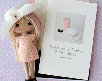 Summer Outfit Pattern Kit for Pocket Poppets - Apricot