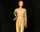 50's Gold LUREX Pant Suit 2pc  W 29