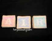 SALE 38 Piece Vintage Fabric Pastels Flash Cards/Memory Game &  A-Z Cards Learning-School-Preschool-White Felt backing.