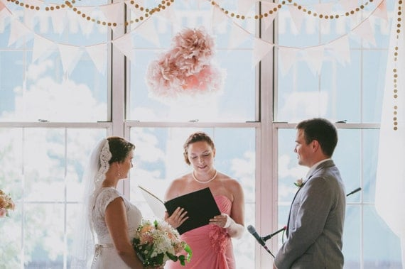 Blush Wedding Pennants