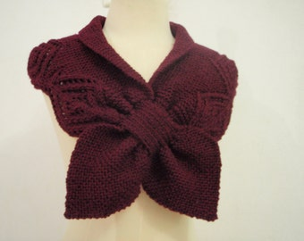 Dark Red Neck warmer Scarf and Cowl