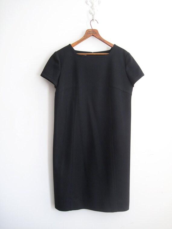 Vintage 60s Mod Mini Dress 1960s Little Black Dress Twiggy