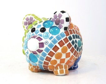 Custom made to order ... PIG lovers PIGGY bank is Piggy-Perfect -- shower gift, baby gift, childs childrens gift, piggy lovers gift