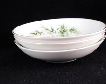 Orient China Bamboo Fruit/Sauce Bowls(3) Made In Japan