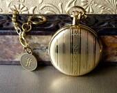 Pocket Watch Swiss Personalized Monogram Initial Handmade Chain Battery Tool Father Bride Groom Best Man Groomsman VALENTINE SPECIAL w TOOL