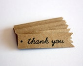 Thank You Kraft  Pennant Tags-Flag tags-Kraft tags