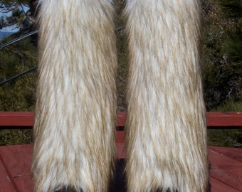 Beautiful Fox Faux Fur Leg Muffs
