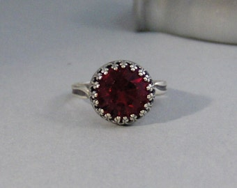 Vintage Ruby,Ring,Silver,Ruby Ring,Antique Ring,Red Ring,Wrapped,Red,Bridesmaid,Red Stone,Birthstone. valleygirldesigns.
