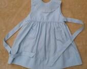 Blue Vintage Dress MINT condition Sz 6 mos. FELTMAN BROS.