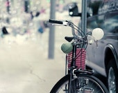 Lucky Bike, Neutral Bike Photograph, Fine Art Print, Good Luck Lanterns, Pastel Summer Decor for women