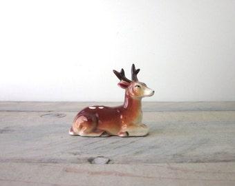 Miniature Deer with Antlers Figurine