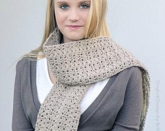 Crochet Scarf Pattern - Willow Scarf Crochet Pattern No.511 Instant Download Digital PDF