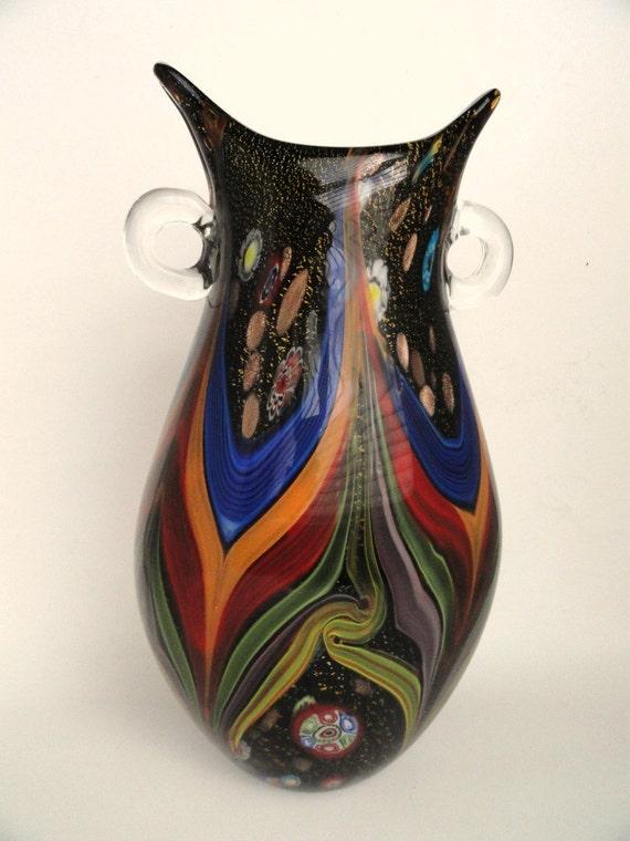 Vintage Murano Art Glass Vase Vintage Home By Memoriesofyesterday