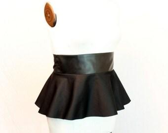 Plus Size Faux Leather Peplum Belt Adjustable