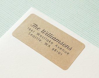 Custom Printed Return Address Labels - Design #04, Cursive Address Labels, Rustic Wedding, Calligraphy Address Label
