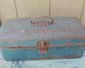 Vintage Rusty  Tool Box