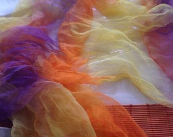 Silk gauze Scarf for Nuno Felting