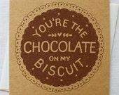 Chocolate Biscuit Valentines Card