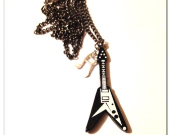 Guitar Music Note Necklace