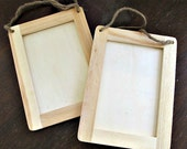 DESTASH - Unfinished Wood Frame - Set of 2 - DIY Supply Art Craft Decor