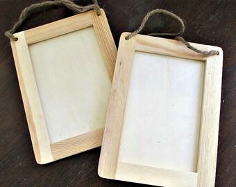 DESTASH - Unfinished Wood Frame - Set of 2 - DIY Supply Art Craft Decor