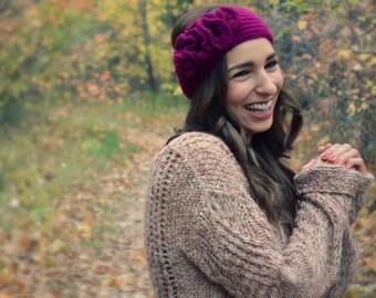 Crochet Earwarmer. Crochet Headband. Fall Earwarmer. Ruffled Headband. Vintage Headband. Christmas for Her. Made to Order.