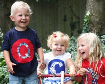 Personalized Initial Kids Shirts or Bodysuit