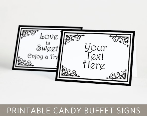 Adorable image intended for free printable candy buffet signs